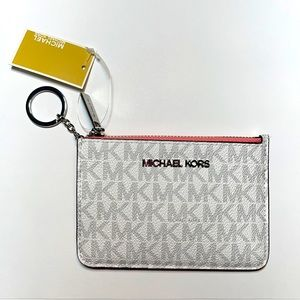 Michael Kors small coin pouch card holder key ring